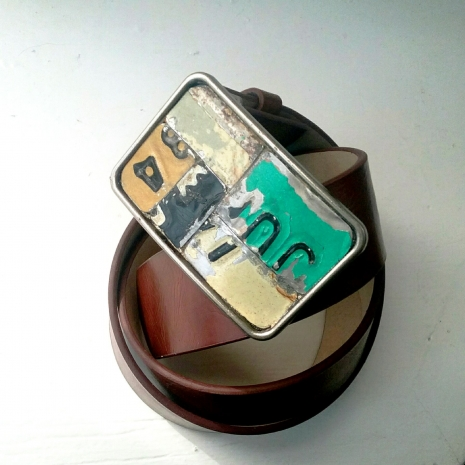 License Plate Belt Buckle