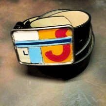 Vintage License Plate Metal Mosaic Belt Buckle