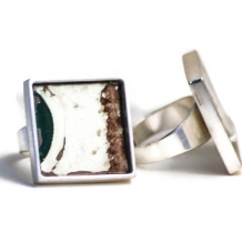 License Plate Adjustable Silver Ring