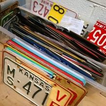 license plate bin